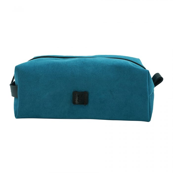 makeup toiletry suede bag