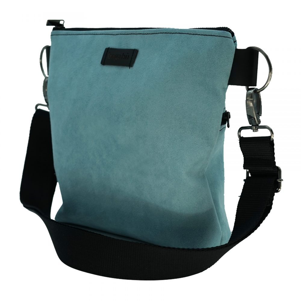 blue suede bag rocco from bagabu