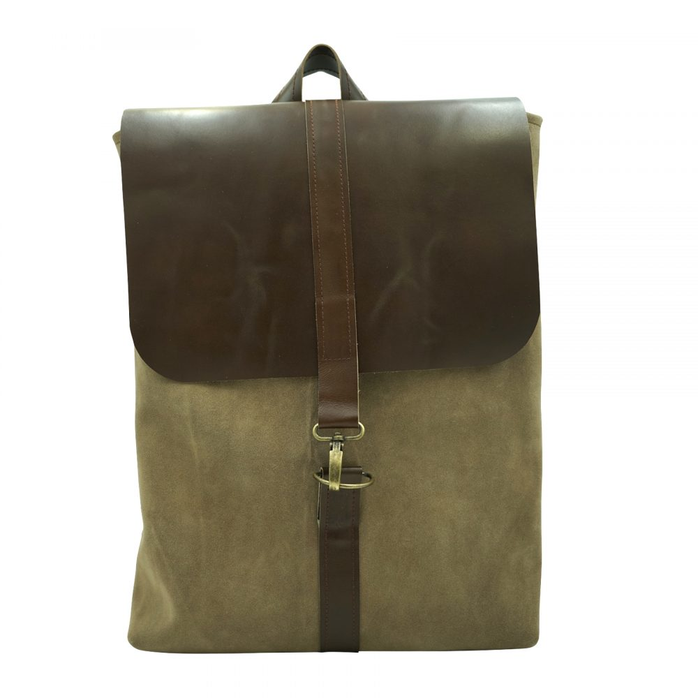 Handmade sustainable leather backpack Nora from Bagabu
