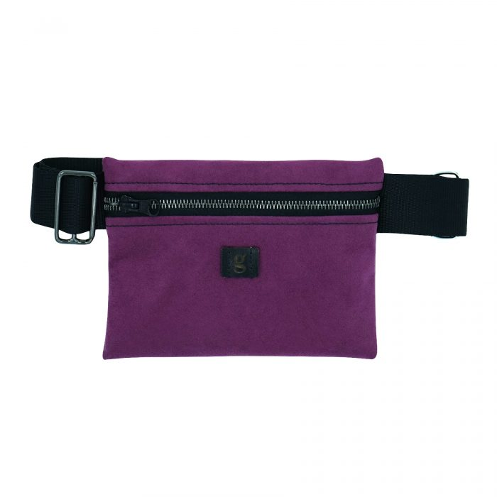 purple flat waist bag