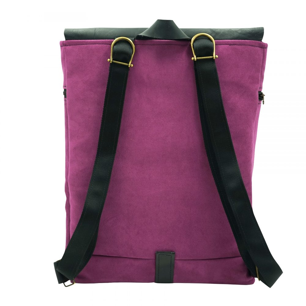 purple lilac backpack by bagabu handmade