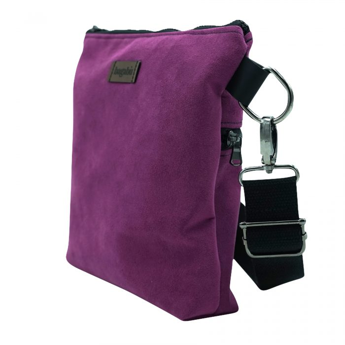 Purple cross body bag hand made