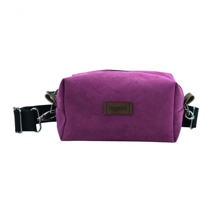 purple hand bag made handcrafted