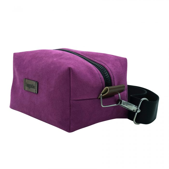 purple hand bag made by hand in copenhagen