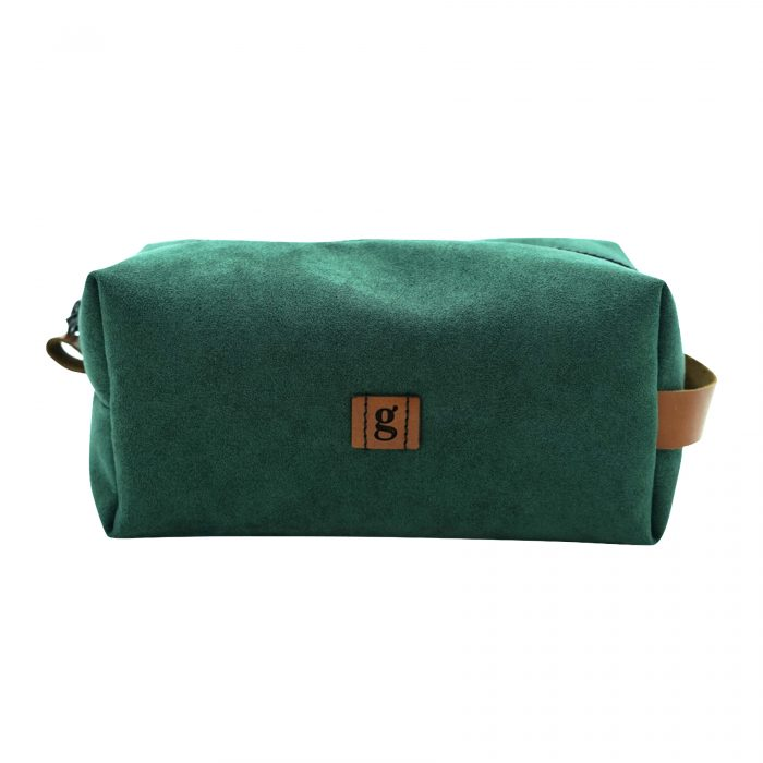 olive green make up bag handcrafted