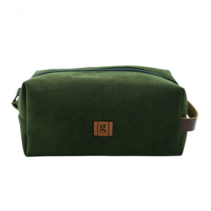 forest green make up bag made in ccopenhagen