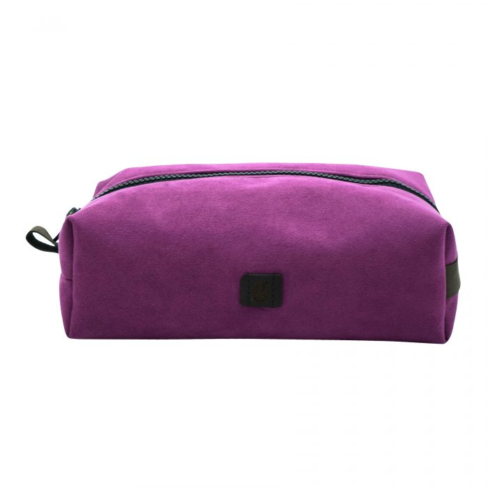 purple make up bag hand crafted