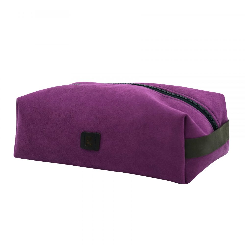 purple make up bag hand made