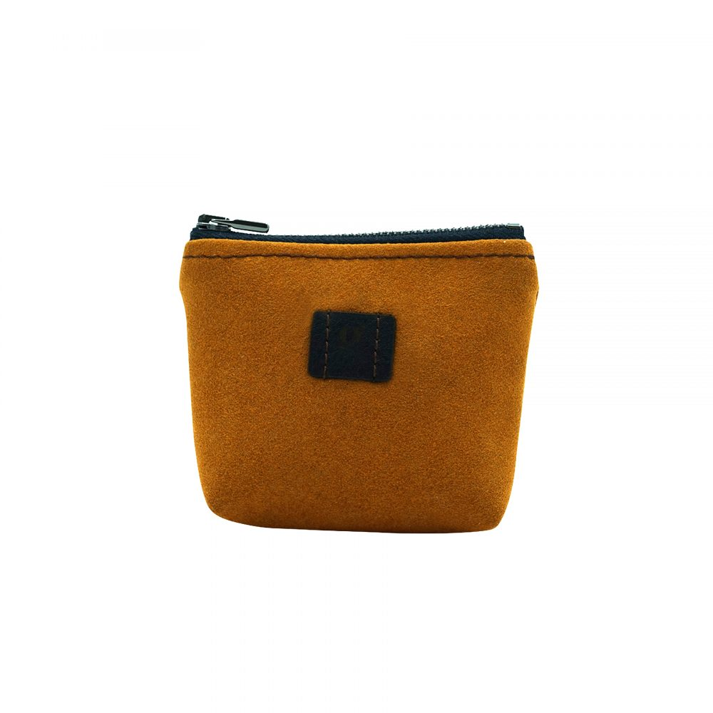 mini wallet upcycled sustainable eco orange