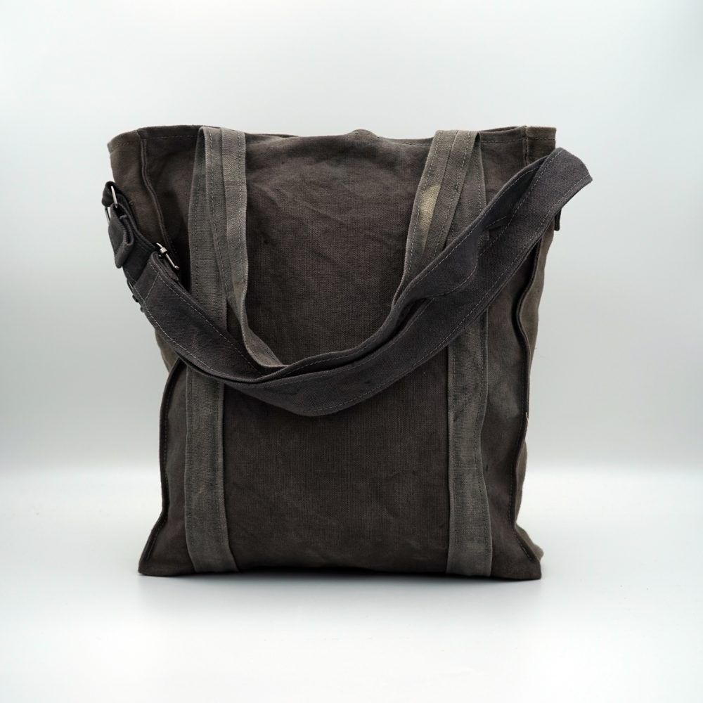 naturally dye vegan gray bag