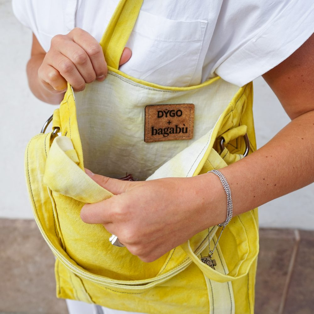 strong yellow bag vegan