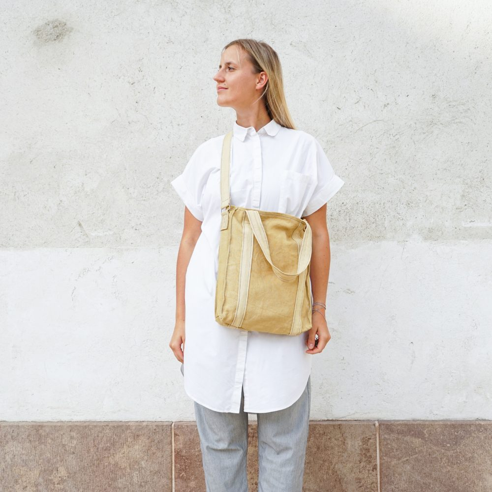 light yellow vegan bag