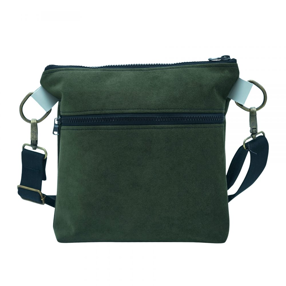 hand made green shoulder bag