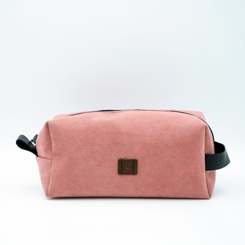 hand made pink toiletry bag