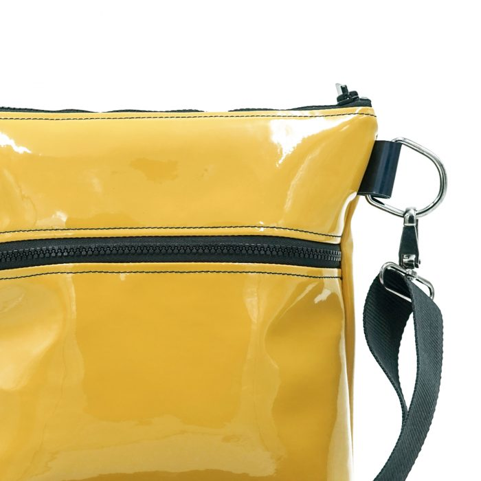yellow rubber bag