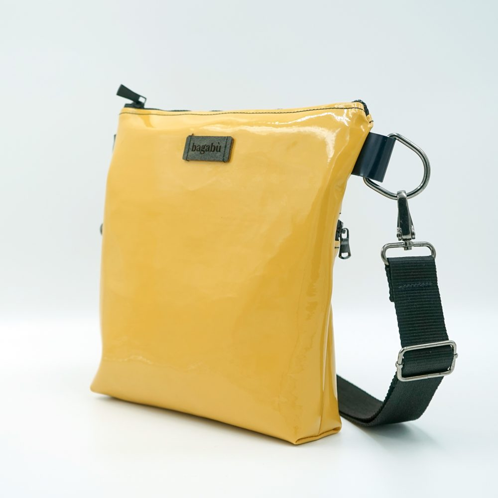 yellow water proofed bag