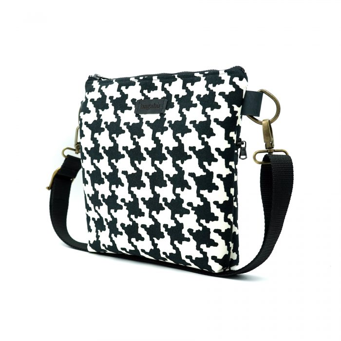 black and white shoulder bag