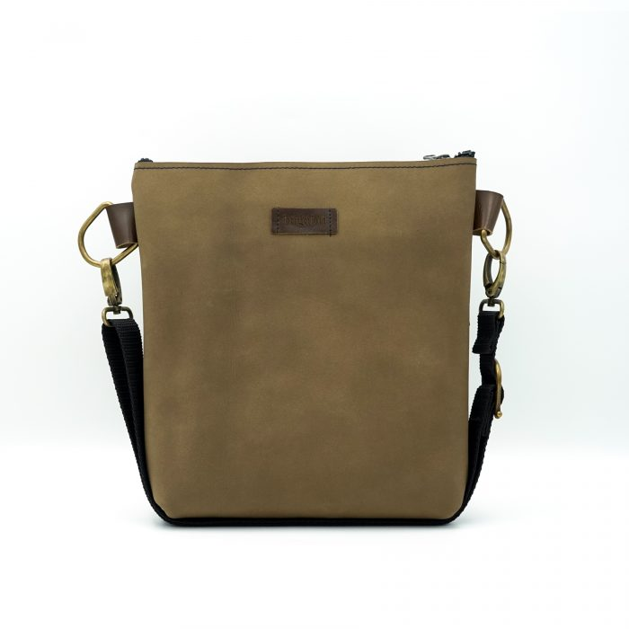 light brown nubuck leather handmade bag