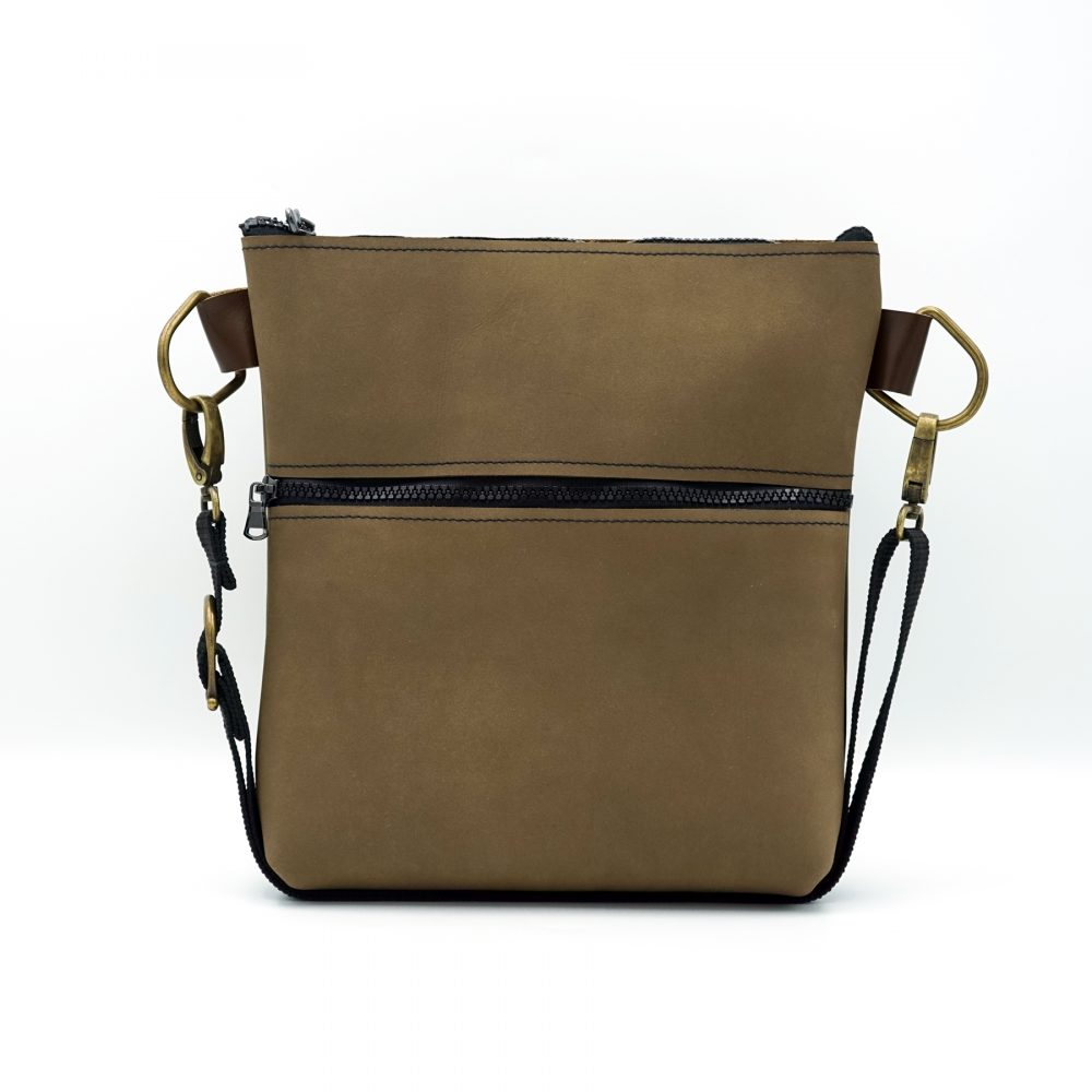 light brown nubuck leather bag