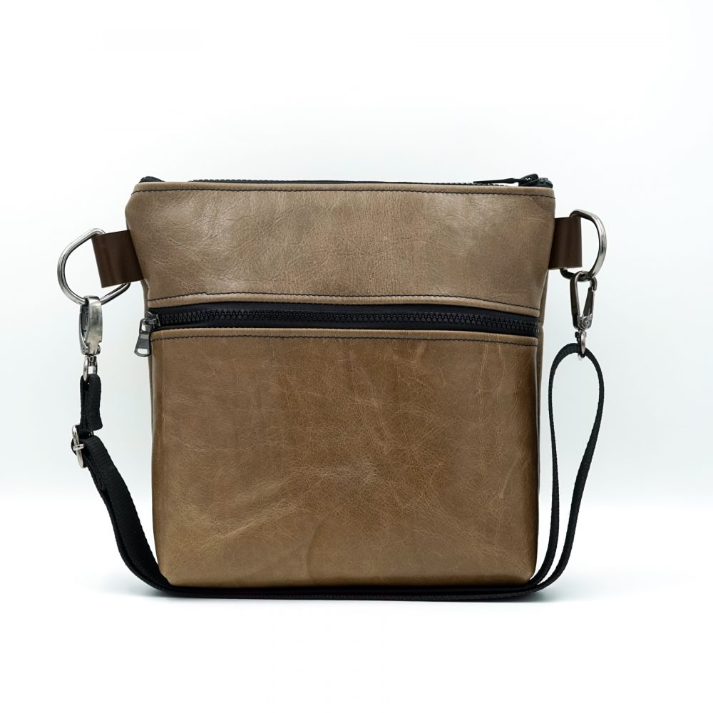 light brown leather bag