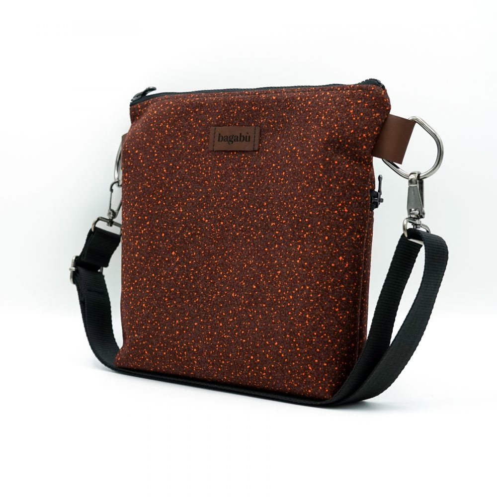 burgundy with dots bag