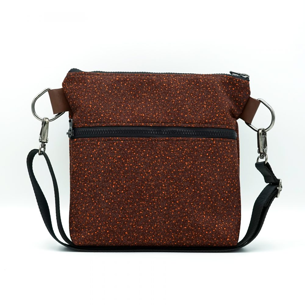 burgundy with dots shoulder bag