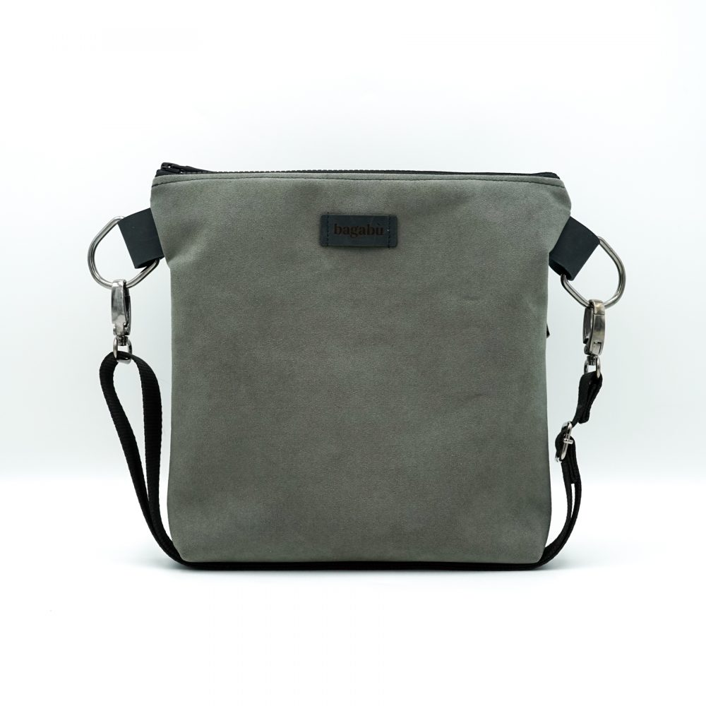 light gray shoulder bag hand made