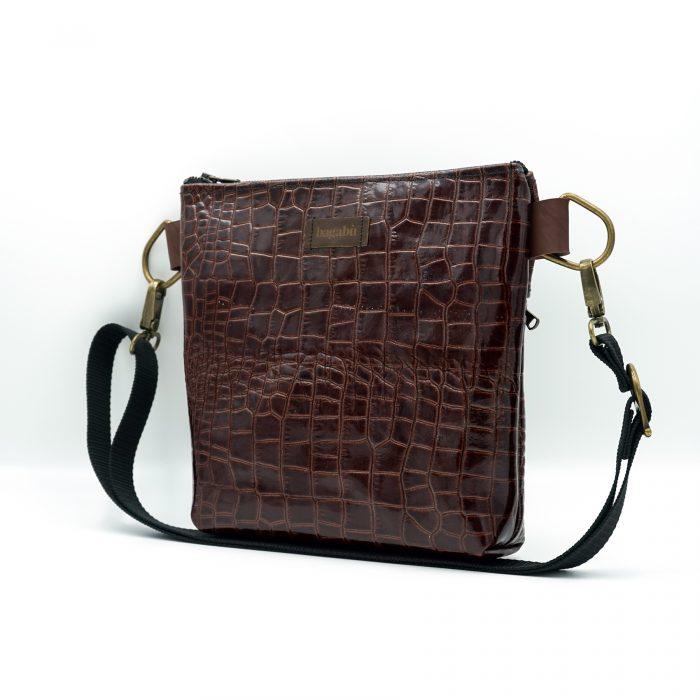 dark brown leather bag hand made