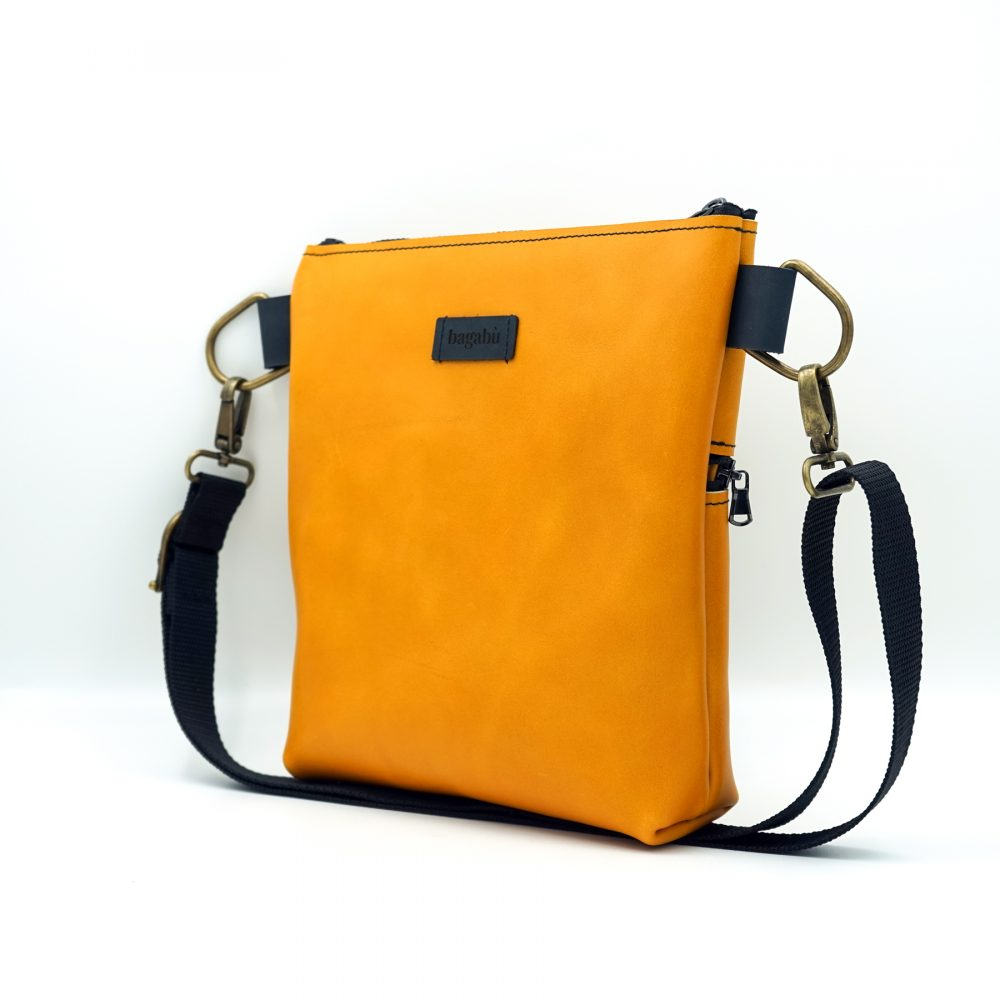 light yellow hand bag made by hand