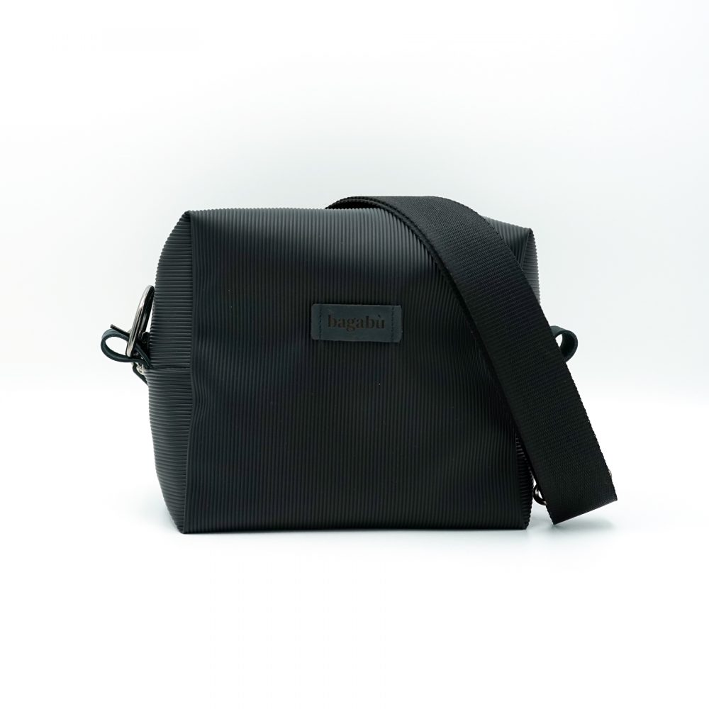 hand made rubber black bag