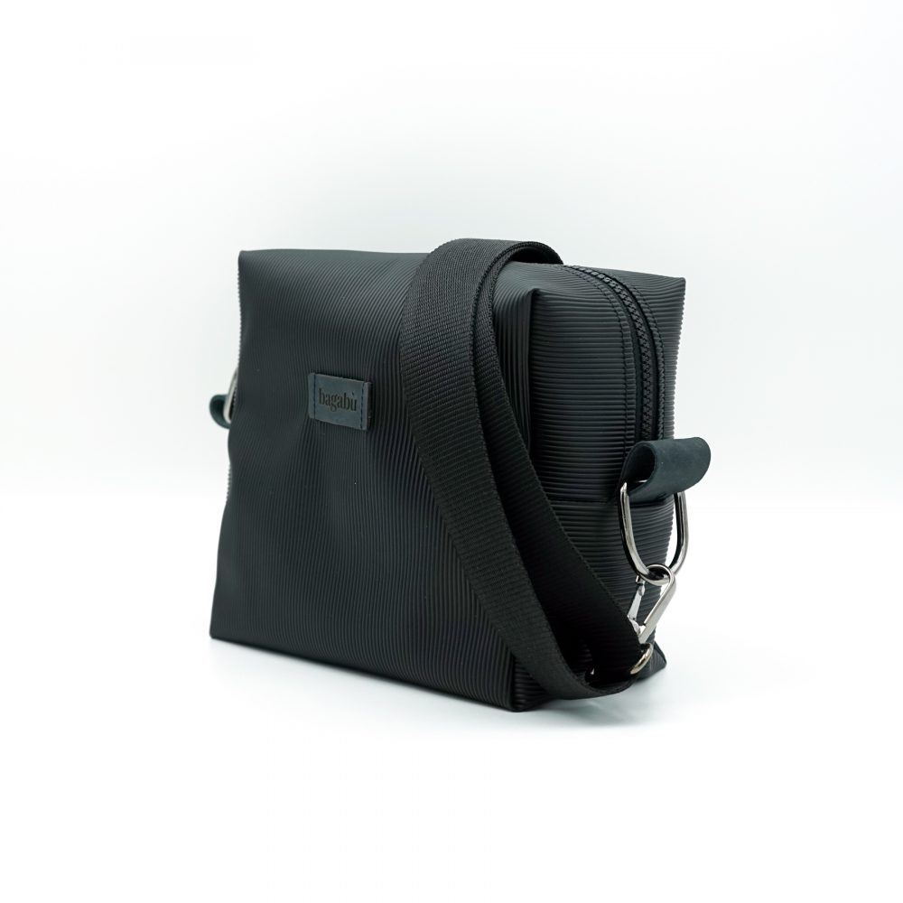 rubber black bag hand made