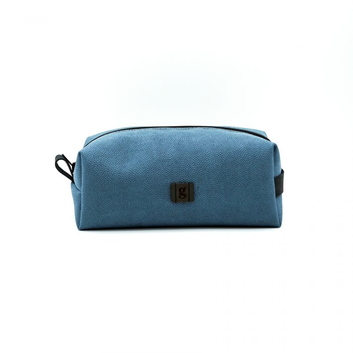 light blue toiletry bag