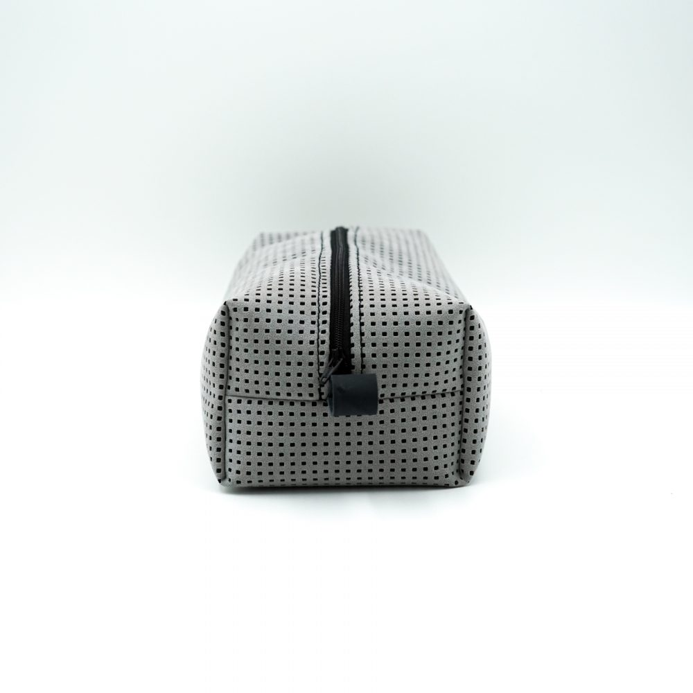 light gray pattern toiletry bag