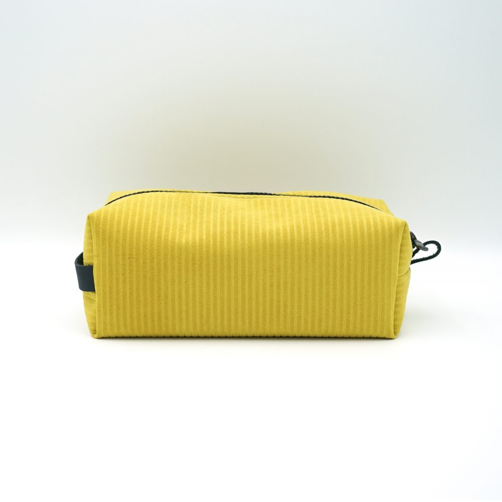 yellow travelling bag