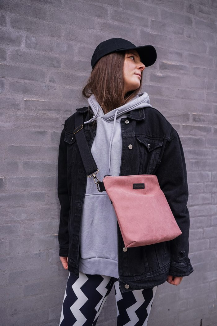 light pink bag