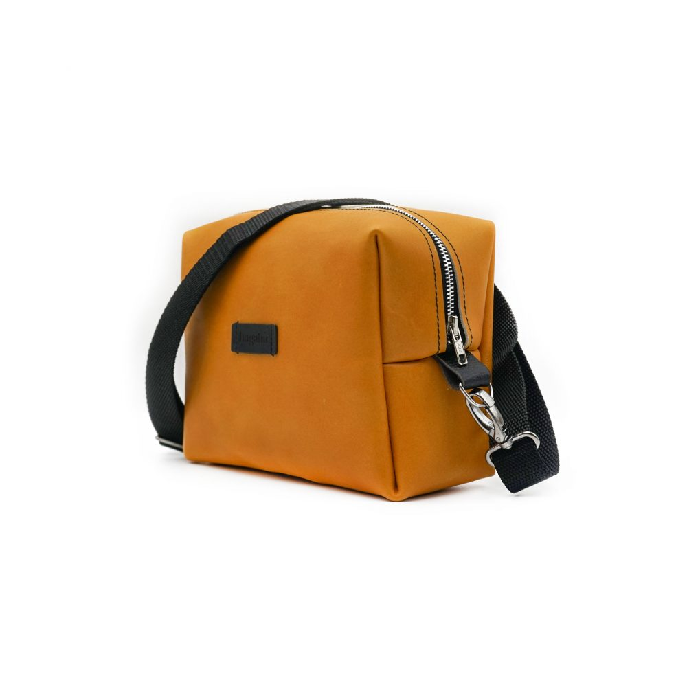 leather yellow bag