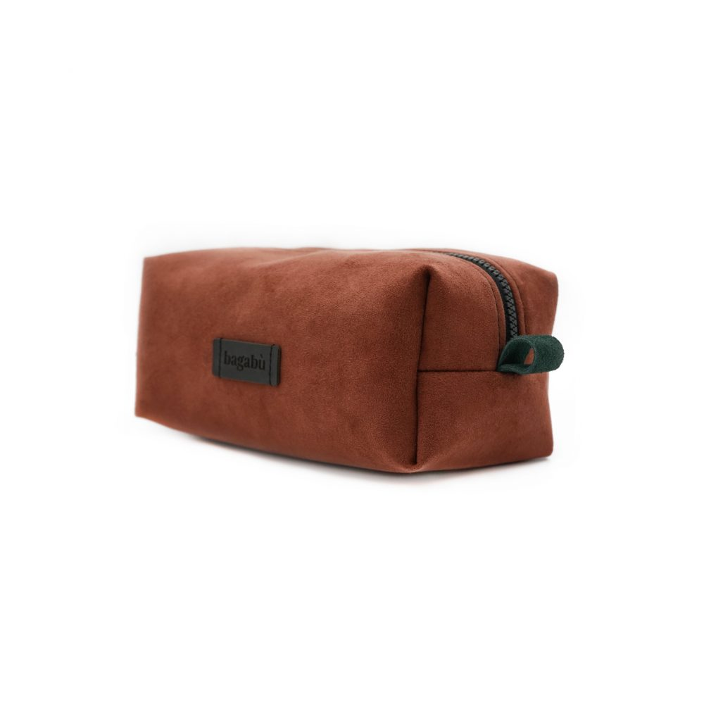 red brick toiletry bag