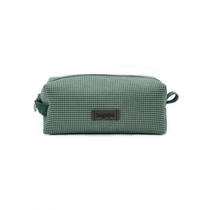 green toiletry bag
