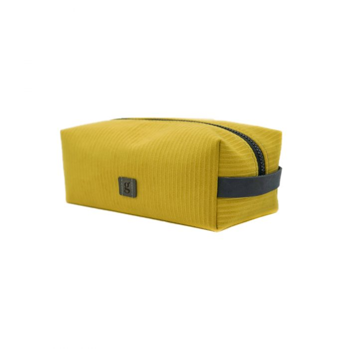 electric yellow makeup bag