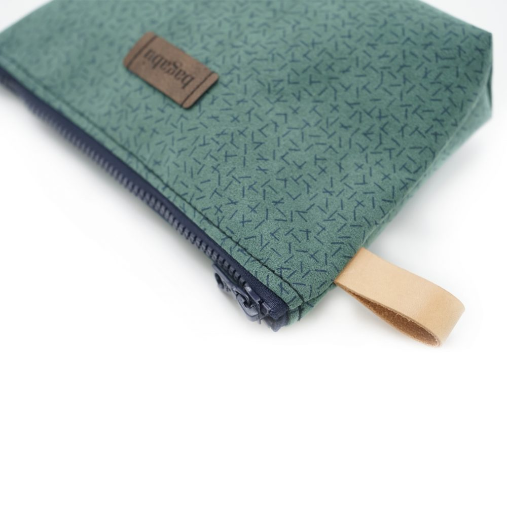green and blue bag