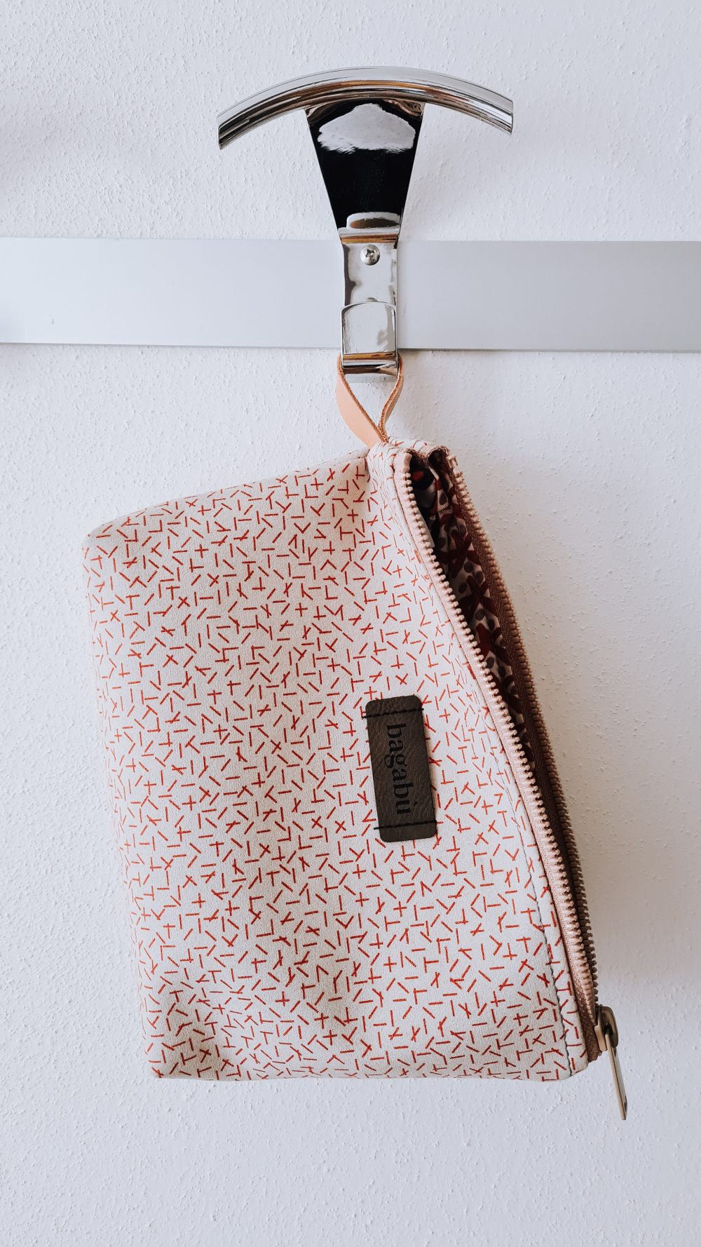 white and red bag